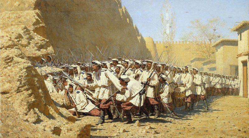 У крепостной стены. «Пусть войдут». 1871, Государственный Русский музей, С.-Петербург