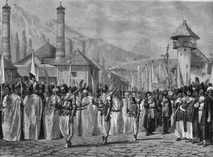 Религиозная процессия на празднике Мохаррем в Шуше. Верещагин В.В.